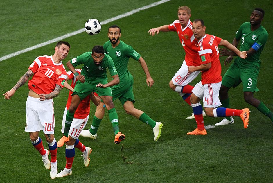 Сборной Саудовской Аравии не удалось забить ни одного мяча в ворота российской команды.