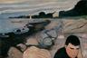 «Меланхолия» (другие названия — «Вечер», «Яппе на берегу» и «Ревность») стала одной из первых работ, в которой окончательно оформился стиль Мунка. Он изобразил своего друга Яппе, у которого в тот момент был болезненный роман с замужней женщиной. Считается, что он же изображен на нескольких картинах из серии «Крик», в том числе на первой версии, которая называлась «Настроение на закате» или «Отчание».