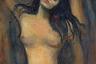 Изображение обнаженной Богородицы с распущенными волосами и прикрытыми в экстазе глазами вызвало скандал. У Мунка было несколько версий «Мадонны», причем на одной из них в углу был эмбрион, а на раме были изображены сперматозоиды. Предполагается, что художник пытался запечатлеть обобщенный момент зачатия, а Дева Мария для него предстает земной, близкой женщиной.  <br><br> Писал Мадонну он со своей бывшей любовницы, натурщицы Дагни Юль, которую называли «пожирательницей мужчин». «Женщина в ее тотальной изменчивости — это загадка для мужчины. Она одновременно святая и потаскуха, наркотик, страдание, человек… Человек, сводящий с ума…» — говорил Мунк.