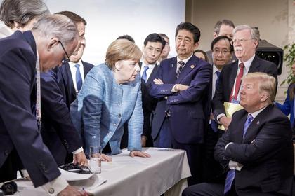 Трамп прокомментировал «плохое фото» с Меркель