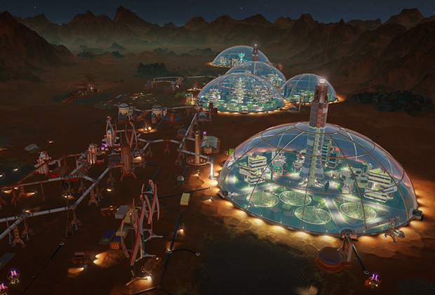 Так выглядит успешная марсианская колония