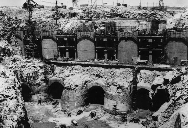 Первый этап строительства Асуанской плотины. 14 мая 1964 года.