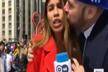 Журналистка пережила случайный поцелуй в прямом эфире и не растерялась