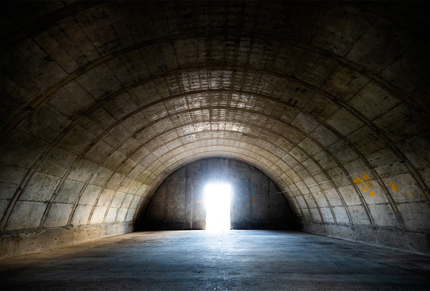 Внутри одного из эджмонтских бункеров до реконструкции.