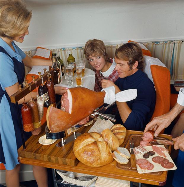 Обед на борту авиакомпании SAS