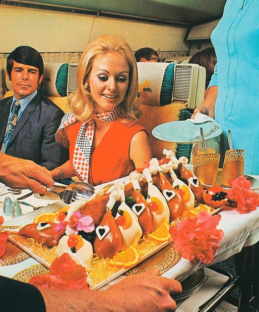 Обед на борту авиакомпании Air New Zealand
