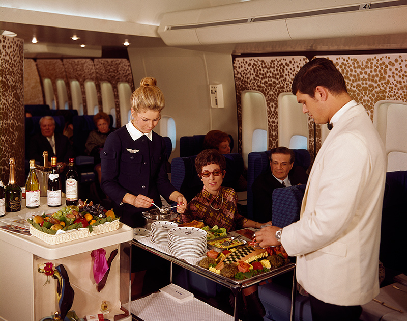 Air France 747 First Class, 1969