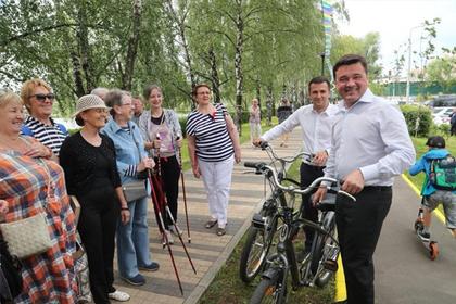 Губернатор Подмосковья проверил качество работ по созданию парка в Реутове