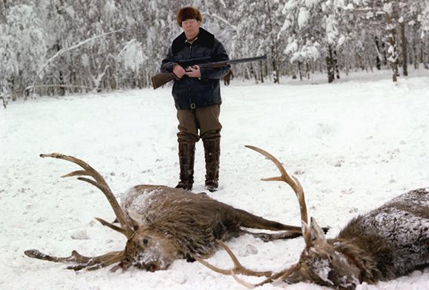 Леонид Брежнев на охоте, 1981 год