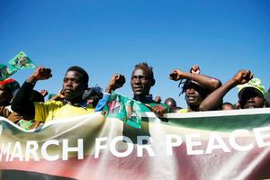Сторонники президента Зимбабве