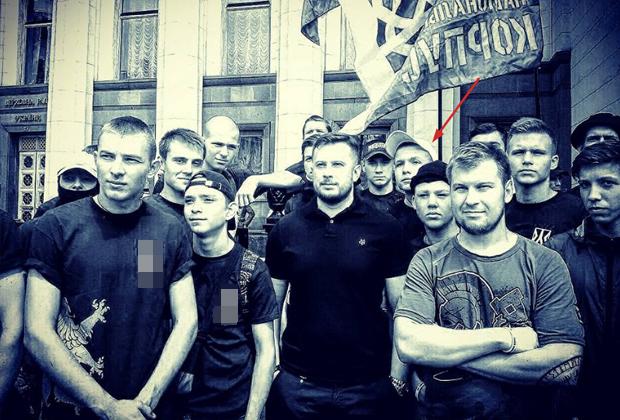 Богдан Попов с лидером «Национального корпуса» Андреем Билецким