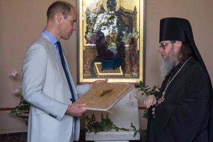 Принц Уильям сходил в русскую церковь