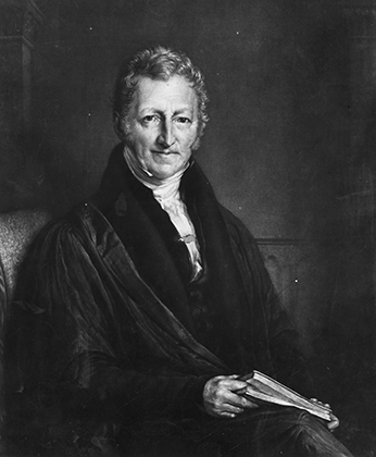 English economist and philosopher, Thomas Malthus