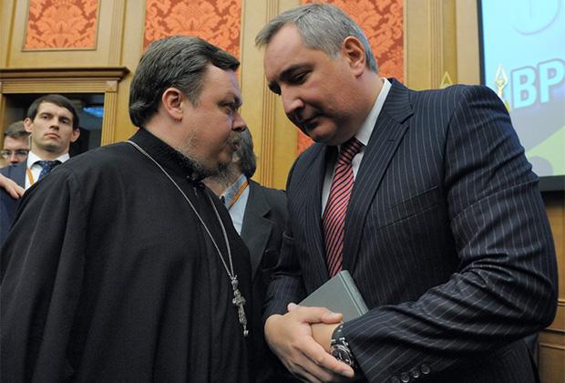 Протоиерей Всеволод Чаплин и Дмитрий Рогозин