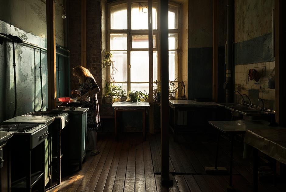На общей кухне