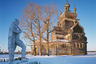 Крупный храмовый комплекс появился в Турчасово к концу XVIII века. Ансамбль представлял собой классический для северной церковной архитектуры «тройник»: две церкви, зимняя шатровая Благовещенская и летняя кубоватая Преображенская, а также колокольня, поражающая своими размерами.