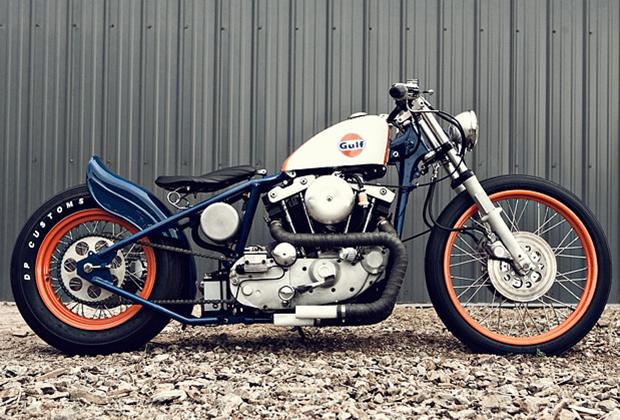Модифицированные гоночные мотоциклы были популярны и среди американских байкеров, но их конструкция была обусловлена гонками по грунту, а не асфальту, как у англичан. Максимально низкая посадка, максимальное облегчение и отсутствие задней подвески придавало мотоциклу весьма оригинальный внешний вид.