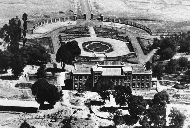 Построенный специально для нового императора дворец в Аддис-Абебе, 1935 год.
