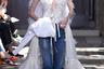 Выйти замуж в белом платье — мечта любой девочки, но в век феминизма пойти к алтарю можно и в джинсах. Sonia Rykiel и вовсе предлагает решение «два в одном».
