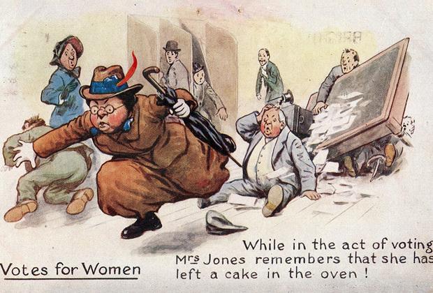 Во многом суфражистское и антисуфражистское движения были зависимы друг от друга, реагировали на аргументы другой стороны, подстраивались под тактику друг друга, будучи частями большого «женского вопроса» поздней Викторианской эпохи. Нужно ли равенство между мужчинами и женщинами? Как расширение прав женщин повлияет на ту или иную страну, а также на семейную жизнь и благосостояние отдельных граждан? Эти вопросы стояли как никогда остро, и потому понятно, почему женское избирательное право стало такой жаркой обсуждаемой в обществе темой.