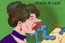 В антисуфражистской петиции, опубликованной в газете New York Times в 1894 году, получение женщинами права голосовать называлось «перекладыванием обязанности заниматься политикой с мужских плеч на женские». Женщины, написавшие ее, аргументировали свою мысль тем, что им и так нужно заниматься кучей работы по дому — а тут еще их и голосовать заставляют!