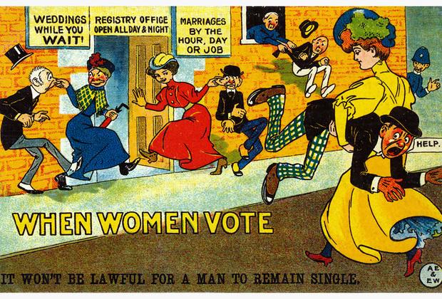 В 1918 — 1920 годах все закончилось. Во многих европейских странах, а также в США были приняты законы, дающие женщинам право голоса. Мужчины-активисты, состоявшие в антисуфражистских организациях, разошлись по домам и продолжили свою жизнь в новой реальности, в которой, несмотря на изменения в законодательстве, практически ничего не изменилось. Антисуфражистки, впрочем, не сдавались дольше. «Наша работа не закончилась, она продолжается!» — говорила Беатрис Чемберлен на последнем заседании Национальной лиги против женского избирательного права. Так и произошло. Сам по себе суфражизм и антисуфражизм исчезли как явление, однако сторонники и сторонницы той и другой точек зрения продолжили формировать либеральную и, соответственно, консервативную повестки в обществе.