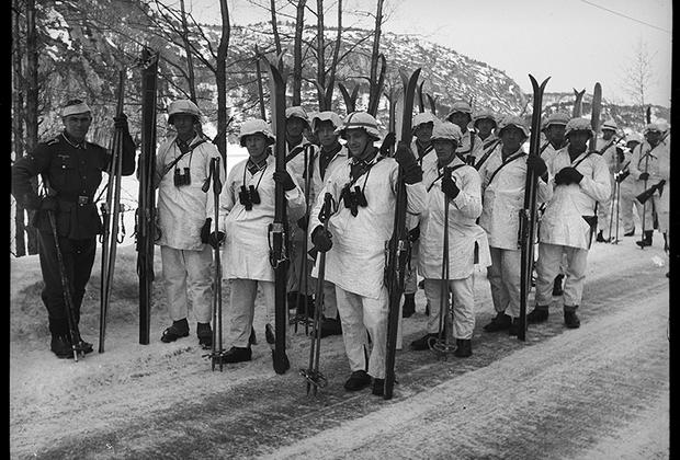 Немецкие солдаты. Норвегия, 1940 год.