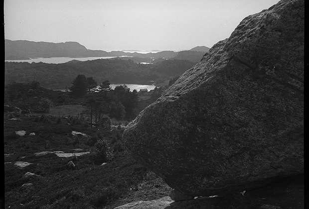 Панорама захваченной территории. Норвегия, 1940 год.