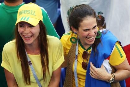 Болельщицы сборной Бразилии