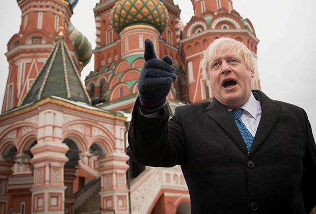 Борис Джонсон на Красной площади