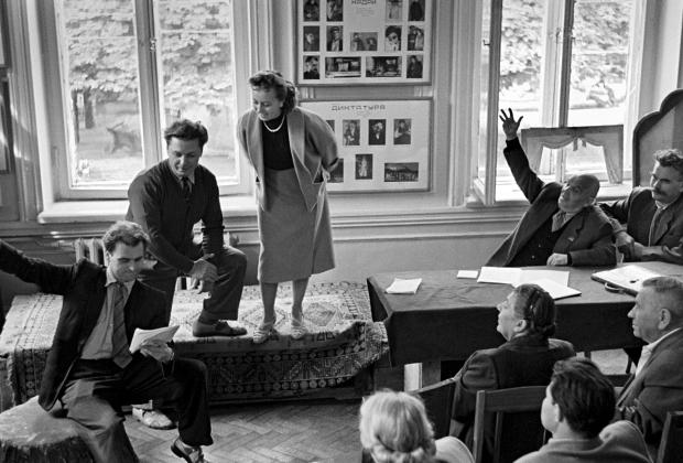 Репетиция в Национальном академическом драматическом театре имени И.Франко (Киев)