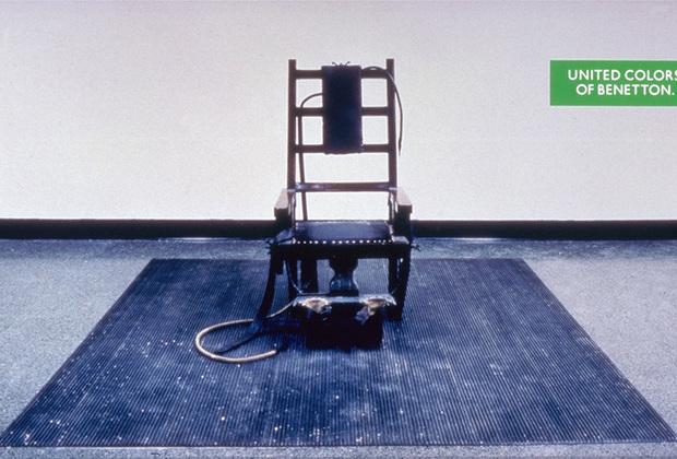 Семейству Бенеттон не нравилась и идея смертной казни. На нескольких плакатах из посвященной этой теме серии изображены приговоренные к смерти и орудия государственно одобряемого умерщвления.
