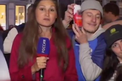 Французский болельщик в прямом эфире признался в любви... к пиву