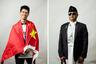 <i>Слева:</i> Болельщик из Китая со своим флагом. Болел за Россию. <br> <br> <i>Справа:</i> Неизвестный из Непала, болел за Россию. Диалога не получилось: нет общего языка.