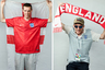 <i>Слева:</i> Алекс из Бирмингема, Британия, приехал с отцом. Они провели в России уже три недели, ходят на все матчи британской сборной и очень довольны. <br> <br> <i>Справа:</i> Британский пьяный болельщик, пришел на матч в компании разгоряченных друзей. Они лезли обниматься к сотрудникам Росгвардии и хотели сфотографироваться для проекта толпой, очень громко пели песни и ничего не соображали от радости.