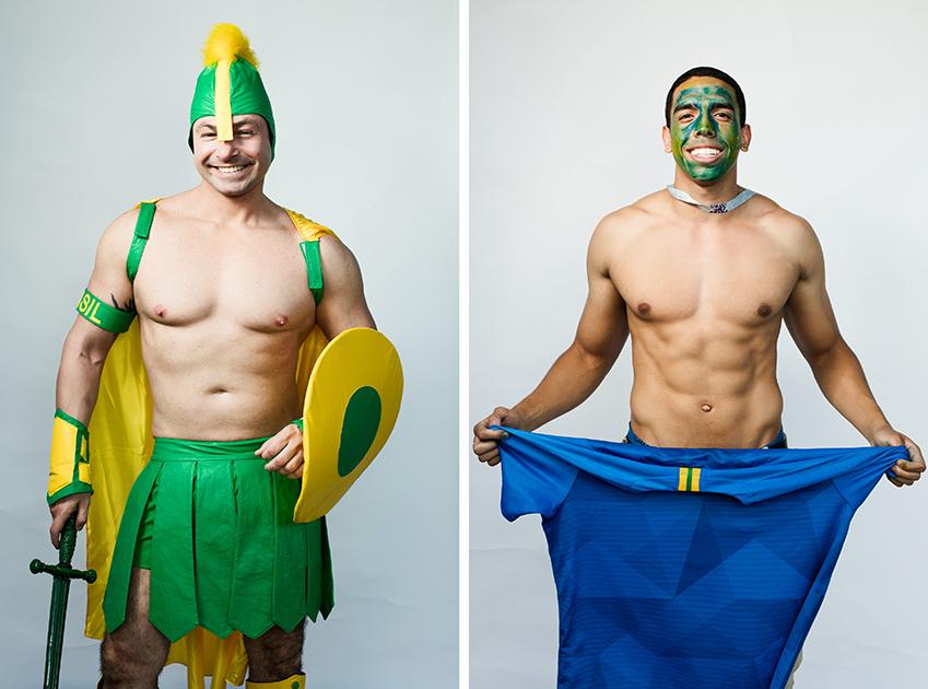 <i>Слева:</i> Марко, Бразилия. <br> <br> <i>Справа:</i> Уолберг, Бразилия. Очень радовался чемпионату, по-английски не говорил. Оказался очень высокого роста.