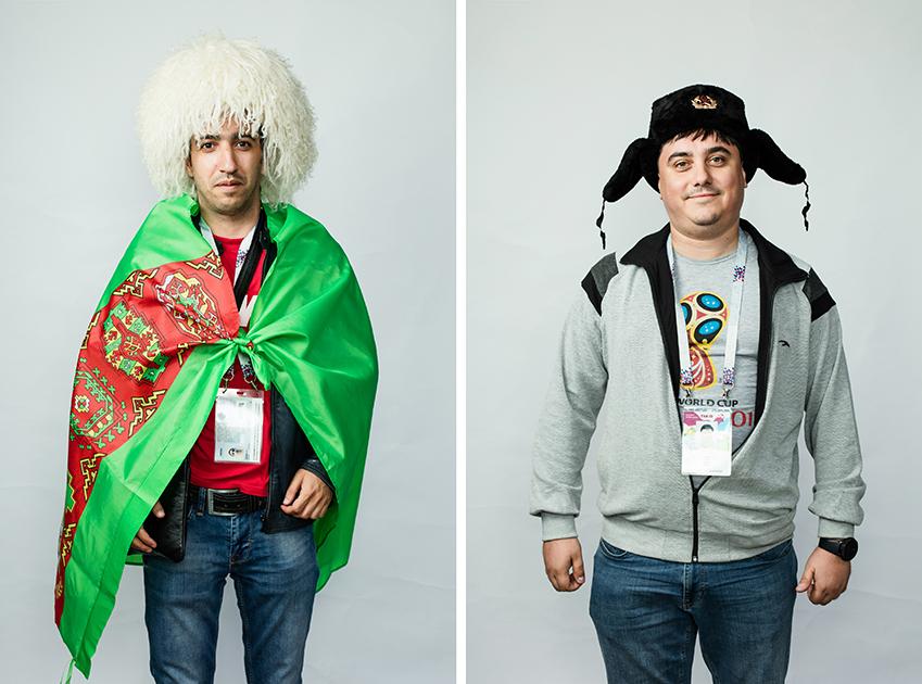 Болельщики из Туркмении, приехали на три матча.