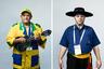 <i>Слева:</i> Один из трех музыкантов из Бразилии. Они не пропускают ни одного чемпионата мира по футболу уже десять лет. С ними путешествует оператор, который снимает их приключения для документального фильма.  <br> <br> <i>Справа:</i> Бразилец в шляпе, не сказал ни слова.