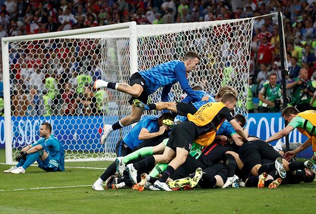 Хорваты празднуют выход в полуфинал