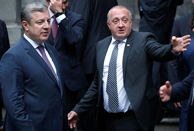 Президент Грузии Георгий Маргвелашвили и премьер-министр Георгий Квирикашвили