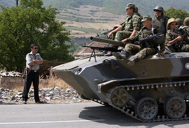 Российские войска в Грузии в августе 2008 года