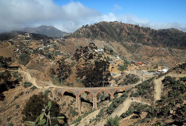 Железнодорожный мост на пути из Асмэры до Массауа. Именно с этого портового города началась колонизация страны итальянцами. В годы, когда Эритрея входила в состав Эфиопии, в Массауа проводил зиму Хайле Селассие I — император, которого растаманы считали богом.