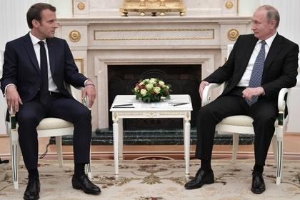 Путин встретился с Макроном