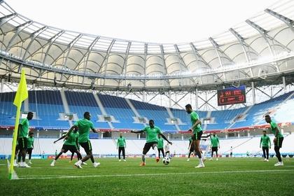 Стадион чемпионата мира размыло дождем