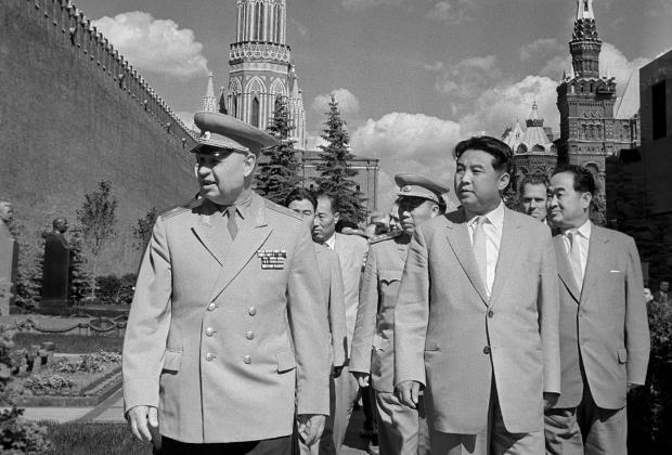 Ким Ир Сен на Красной площади в Москве, 1961 год