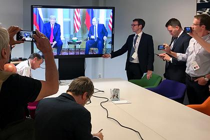 Путин и Трамп поговорили тет-а-тет