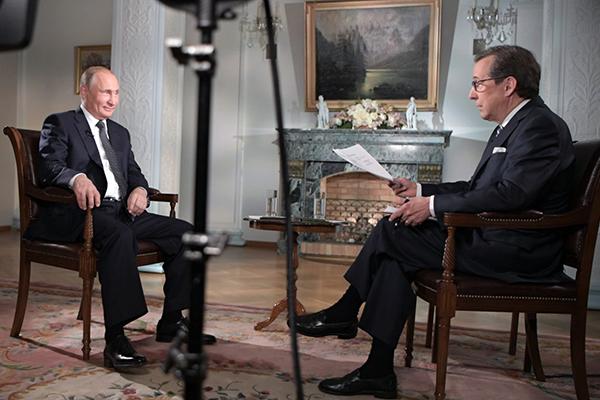 Владимир Путин и Крис Уоллес