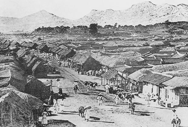 Сеульская улица. 1910 год