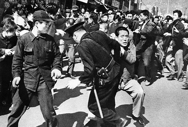 Беспорядки во время антиправительственной демонстрации после переизбрания Ли Сын Мана в 1960 году