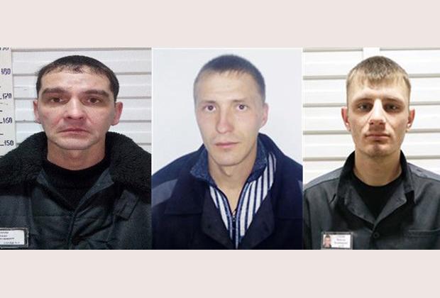 Слева направо: заключенные Сергей Жилин, Валерий Бойко и Вячеслав Стецик